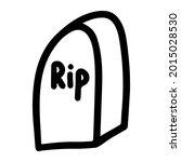 vector halloween gravestone ... | Shutterstock .eps vector #2015028530