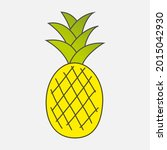 colorful drawn ripe yellow... | Shutterstock .eps vector #2015042930