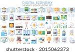 digital economy multi color...