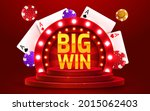 big win sign with gold... | Shutterstock .eps vector #2015062403