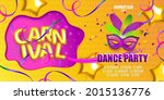 carnival party flyer template.... | Shutterstock .eps vector #2015136776