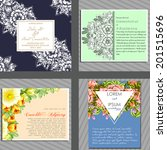 wedding invitation cards with...   Shutterstock .eps vector #201515696