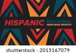 national hispanic heritage...   Shutterstock .eps vector #2015167079