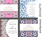 wedding invitation cards with... | Shutterstock . vector #201516773