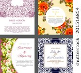 wedding invitation cards with... | Shutterstock . vector #201516854