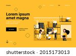 staff working in logistic... | Shutterstock .eps vector #2015173013