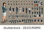 large isometric set of gestures ... | Shutterstock .eps vector #2015190890