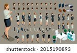 large isometric set of hand and ...   Shutterstock .eps vector #2015190893