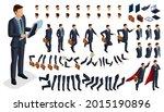 large isometric set of gestures ... | Shutterstock .eps vector #2015190896