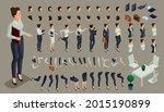 large isometric set of gestures ...   Shutterstock .eps vector #2015190899