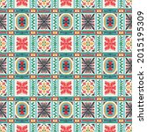 diagonal ikat stripes. zigzag... | Shutterstock .eps vector #2015195309