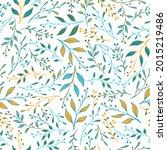 spring herbal pattern seamless... | Shutterstock .eps vector #2015219486