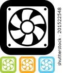 exhaust fan vector icon | Shutterstock .eps vector #201522548