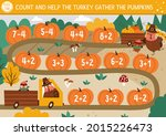 thanksgiving day counting dice... | Shutterstock .eps vector #2015226473