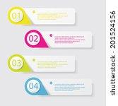 design clean number banners...   Shutterstock .eps vector #201524156