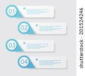 design clean number banners...   Shutterstock .eps vector #201524246