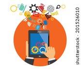 mobile app development concept | Shutterstock .eps vector #201526010