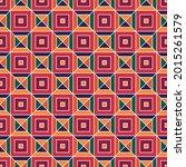 triangles  checks ornament.... | Shutterstock .eps vector #2015261579