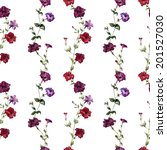 flower  wallpaper  watercolor | Shutterstock .eps vector #201527030