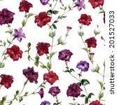 flower pattern  watercolor | Shutterstock .eps vector #201527033