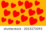 red hearts seamless pattern on...   Shutterstock .eps vector #2015273393