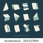 folded paper sheets and... | Shutterstock .eps vector #201527894