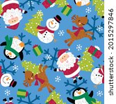 santa claus with snowflake ... | Shutterstock .eps vector #2015297846