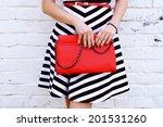 outdoor fashionable girl near... | Shutterstock . vector #201531260