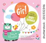 it's a girl  baby shower | Shutterstock .eps vector #201532346