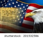 patriotic symbols of the united ... | Shutterstock . vector #201532586