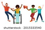 different people on protest ...   Shutterstock .eps vector #2015333540