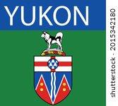 yukon territory symbol vector... | Shutterstock .eps vector #2015342180
