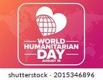 world humanitarian day. august...   Shutterstock .eps vector #2015346896