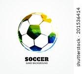 vector football design art... | Shutterstock .eps vector #201536414