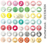 vector set of ecology and... | Shutterstock .eps vector #201536504