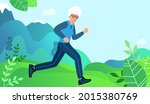elderly woman is engaged in... | Shutterstock .eps vector #2015380769