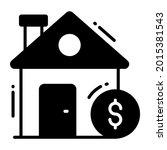house trendy icon  glyph style...
