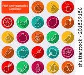 fruit and vegetables flat... | Shutterstock .eps vector #201539156