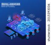 isometric concept of data... | Shutterstock .eps vector #2015393036