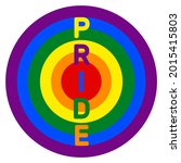 rainbow target. symbol for lgbt ...   Shutterstock .eps vector #2015415803