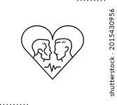 conceptual design of gay couple ... | Shutterstock .eps vector #2015430956