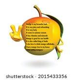 essay on mango.tropical mango.... | Shutterstock .eps vector #2015433356