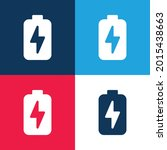 battery blue and red four color ...