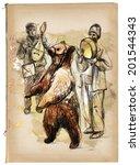 Digital Painting  Dancing Bear...