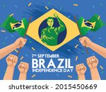 happy brazil independence day... | Shutterstock .eps vector #2015450669