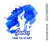 games time to start concept... | Shutterstock .eps vector #2015460560