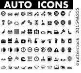 auto icons | Shutterstock .eps vector #201546323