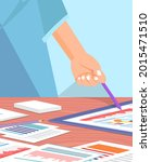 visualize with business... | Shutterstock .eps vector #2015471510