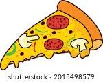 pizza slice vector illustration ... | Shutterstock .eps vector #2015498579