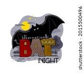 international bat night. the...   Shutterstock .eps vector #2015500496